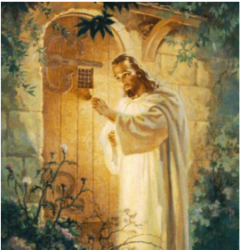 Jesus stands at the door